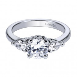 Gabriel 14 Karat Contemporary Engagement Ring ER3803W44JJ