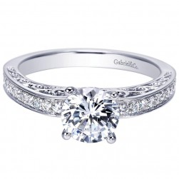 Gabriel 14 Karat Contemporary Engagement Ring ER7903W44JJ