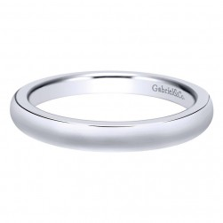 Gabriel 14 Karat Contemporary Wedding Band WB9730W4JJJ