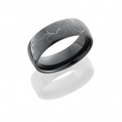 Lashbrook Z7D/WLCVTHORNSHEART POLISH Zirconium Wedding Ring or Band
