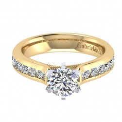 Gabriel 14 Karat Contemporary Engagement Ring ER4185M44JJ