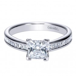 Gabriel 14 Karat Contemporary Engagement Ring ER8958W44JJ