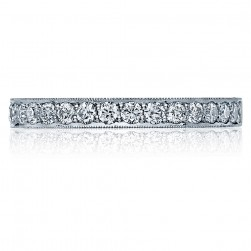 Tacori 41-25 18 Karat Sculpted Crescent Diamond Wedding Band