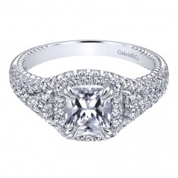 Gabriel 14 Karat Contemporary Engagement Ring ER10748W44JJ