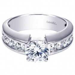 Gabriel 14 Karat Contemporary Engagement Ring ER4188W44JJ