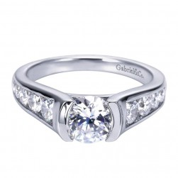 Gabriel 14 Karat Contemporary Engagement Ring ER7883W44JJ