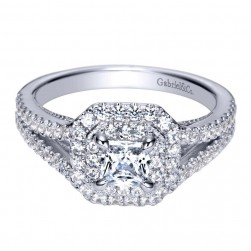 Gabriel 14 Karat Contemporary Engagement Ring ER8199W44JJ