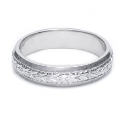 Tacori GU92 18 Karat Hand Engraved Wedding Band