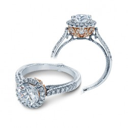 Verragio Couture-0433DR-TT Platinum Engagement Ring