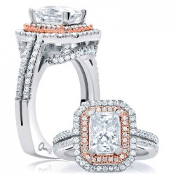 A.JAFFE Platinum Signature Engagement Ring MES637