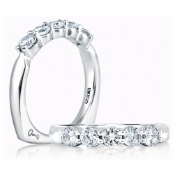A.JAFFE Signature Platinum Diamond Wedding Ring MRS015 / 100