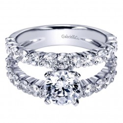 Gabriel 14 Karat Contemporary Engagement Ring ER4234W44JJ