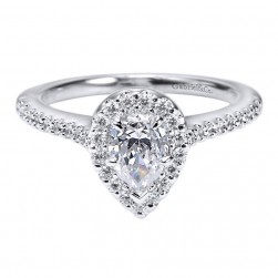 Gabriel 14 Karat Contemporary Engagement Ring ER5828W44JJ