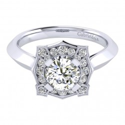 Gabriel 14 Karat Perfect Match Engagement Ring ER001B4ADW44JJ