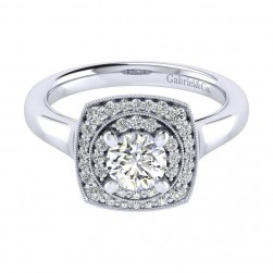 Gabriel 14 Karat Perfect Match Engagement Ring ER009B3AFW44JJ