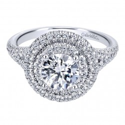 Gabriel 14 Karat Contemporary Engagement Ring ER10110W44JJ