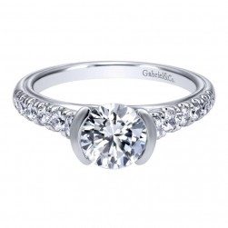 Gabriel 14 Karat Contemporary Engagement Ring ER10121W44JJ