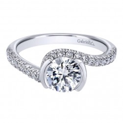 Gabriel 14 Karat Contemporary Engagement Ring ER10472W44JJ