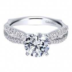Gabriel 14 Karat Contemporary Engagement Ring ER11829R6W44JJ