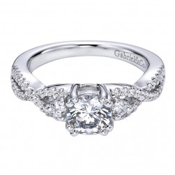 Gabriel 14 Karat Contemporary Engagement Ring ER6022W44JJ