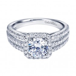 Gabriel 14 Karat Contemporary Engagement Ring ER7254W44JJ