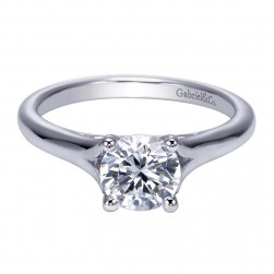 Gabriel 14 Karat Contemporary Engagement Ring ER8139W4JJJ