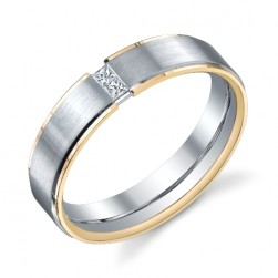 243595 Christian Bauer 18K - Plat Diamond  Wedding Ring / Band