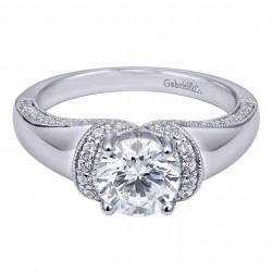 Gabriel 14 Karat Contemporary Engagement Ring ER10487W44JJ