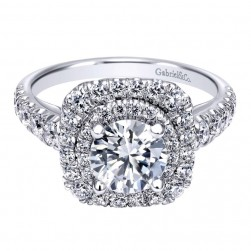 Gabriel 14 Karat Contemporary Engagement Ring ER10755W44JJ