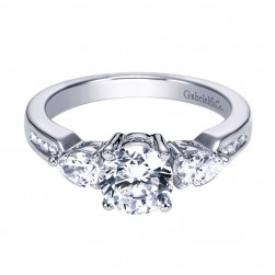 Gabriel 14 Karat Contemporary Engagement Ring ER3842W44JJ