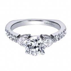 Gabriel 14 Karat Contemporary Engagement Ring ER4019W44JJ