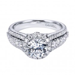 Gabriel 14 Karat Contemporary Engagement Ring ER6987W44JJ