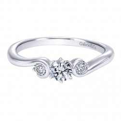 Gabriel 14 Karat Contemporary Engagement Ring ER910071W44JJ