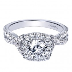 Gabriel 14 Karat Contemporary Engagement Ring ER98667W44JJ
