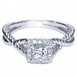 Gabriel 14 Karat Contemporary Engagement Ring ER98731W44JJ