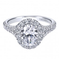 Gabriel 14 Karat Contemporary Engagement Ring ER10291W44JJ