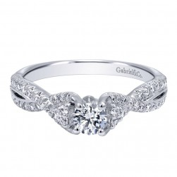 Gabriel 14 Karat Contemporary Engagement Ring ER910175W44JJ