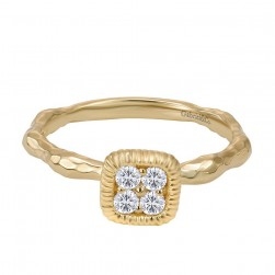 Gabriel Fashion 14 Karat Stackable Stackable Ladies' Ring LR50275Y45JJ