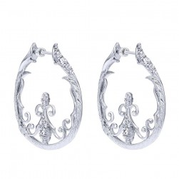 Gabriel Fashion Silver Hoops Hoop Earrings EG12027SVJWS