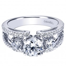Gabriel 14 Karat Contemporary Engagement Ring ER4252W44JJ