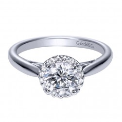 Gabriel 14 Karat Contemporary Engagement Ring ER7824W44JJ