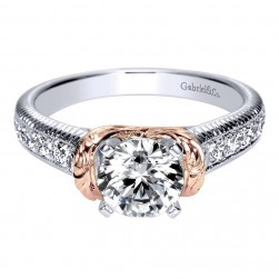 Gabriel 14 Karat Contemporary Engagement Ring ER9238T44JJ