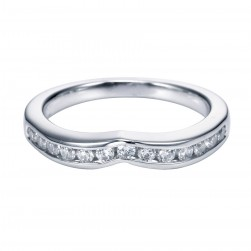 Gabriel 14 Karat Contemporary Wedding Band WB3842W44JJ