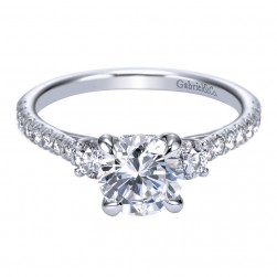 Gabriel 14 Karat Contemporary Engagement Ring ER7477W44JJ