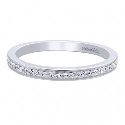 Gabriel 14 Karat Contemporary Wedding Band WB9608W44JJ