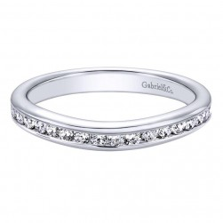 Gabriel 14 Karat Contemporary Wedding Band WB9718W44JJ