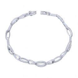 Gabriel Fashion 14 Karat Lusso Diamond Tennis Bracelet TB2506W45JJ