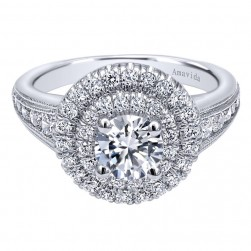 Gabriel 14 Karat Contemporary Engagement Ring ER10451W44JJ