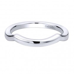 Gabriel 14 Karat Contemporary Wedding Band WB9603W4JJJ