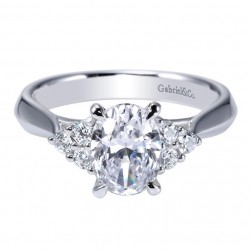 Gabriel 14 Karat Contemporary Engagement Ring ER8955W44JJ